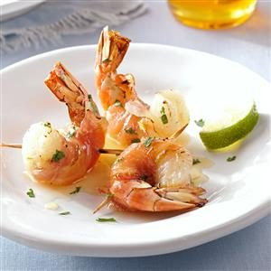 Pancetta-Wrapped Shrimp with Honey-Lime Glaze Recipe