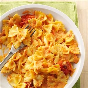 Pasta with Roasted Garlic & Tomatoes Recipe