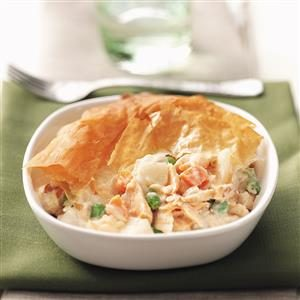 Pastry-Topped Salmon Casserole Recipe