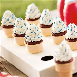 Patriotic Cupcake Cones Recipe