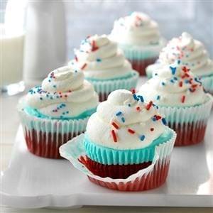 Patriotic Ice Cream Cupcakes Recipe