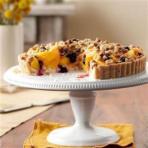 Peach-Blueberry Crumble Tart Recipe