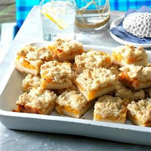 Watch Us Make: Peach Crumb Bars