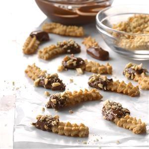 Peanut Butter Spritz Fingers Recipe