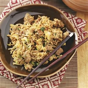 Peanut Turkey Fried Rice Recipe