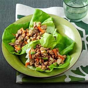 Peanutty Asian Lettuce Wraps Recipe