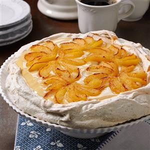Pear & Maple Cream Pavlova Recipe