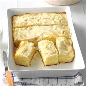 Pear Cake with Sour Cream Topping Recipe