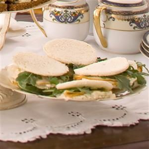 Pear-Walnut Tea Sandwiches