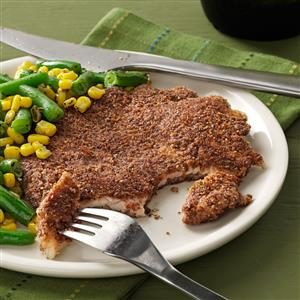 Pecan-Crusted Turkey Cutlets Recipe