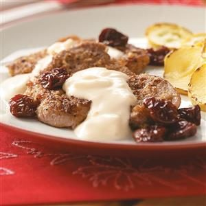 Pecan Pork Medallions with Cambozola Cream Recipe