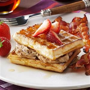 Pecan-Stuffed Waffles Recipe