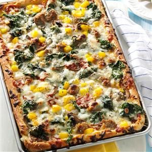 Pepper Sausage Pizza Recipe