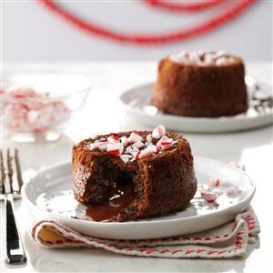 Peppermint Lava Cakes Recipe