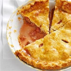 Menu #3 Dessert:  Perfect Rhubarb Pie