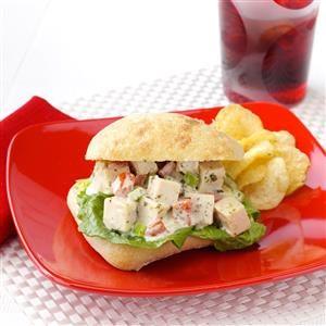 Pesto Chicken Salad Sandwiches Recipe