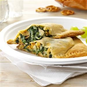 Pesto Chicken Turnovers Recipe