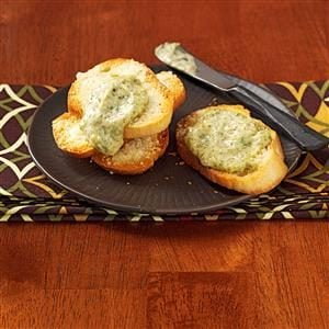 Pesto Dip with Parmesan Toast Recipe