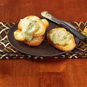 Pesto Dip with Parmesan Toast Recipe