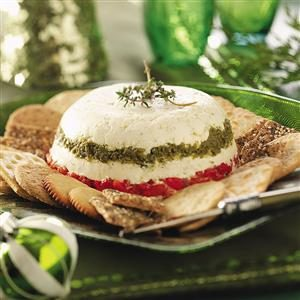 Pesto-Pepper Cheese Spread Recipe