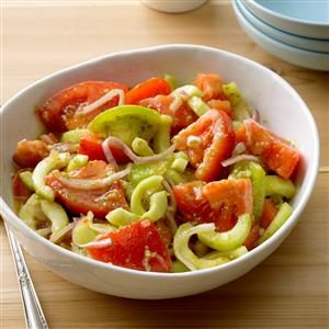 Pesto Tomato-Cucumber Salad
