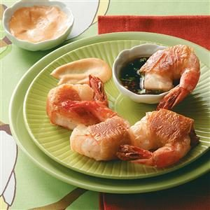 Phyllo Shrimp with Dipping Sauces Recipe