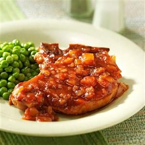 Pineapple Barbecue Sauce Pork Chops Recipe