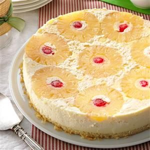 Pineapple Cheesecake-Topped Cake Recipe