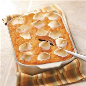 Pineapple Sweet Potato Casserole with Marshmallows Recipe