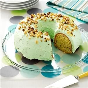Watch Us Make: Pistachio Pudding Cake