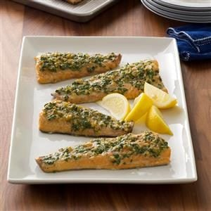 Plank-Grilled Ginger-Herb Trout