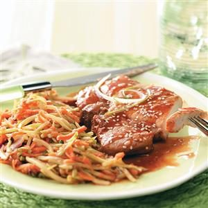 Plum-Good Pork Chops Recipe