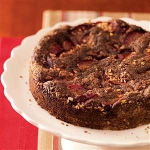 Plum-Topped Chocolate Kuchen Recipe