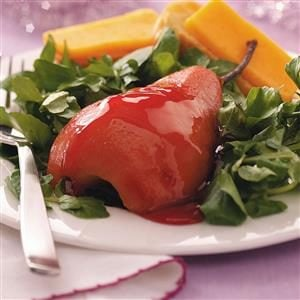 Poached Pears with Cheddar Recipe