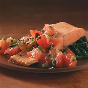 Poached Salmon with Grapefruit Salsa Recipe