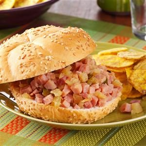 Polynesian Ham Sandwiches Recipe