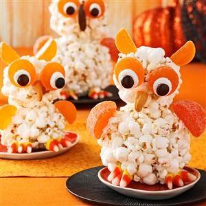 Popcorn Owls Recipe