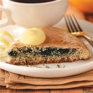 Poppy Seed-Filled Scones with Lemon Curd Recipe