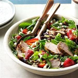 Pork and Balsamic Strawberry Salad Recipe