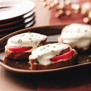 Pork & Mozzarella Crostini Recipe