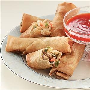 Pork 'n' Shrimp Spring Rolls Recipe