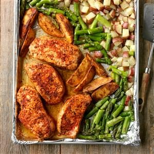 Pork and Asparagus Sheet Pan Dinner Recipe