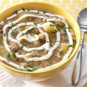 Pork and Green Chili Stew Recipe