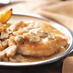 Pork Chops and Mushroom Gravy Recipe