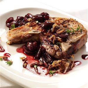 Pork Chops with Cherry Sauce