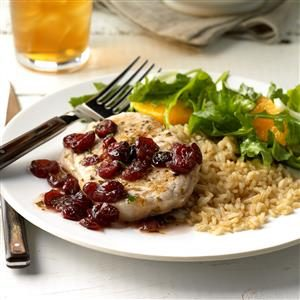 Pork Chops with Cranberry Pan Sauce Recipe