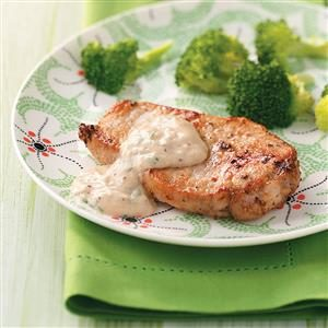 Pork Chops with Parmesan Sauce for Two Recipe