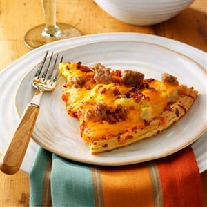 Pork Sausage Brunch Pizza Recipe