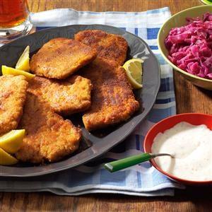 Pork Schnitzel with Dill Sauce