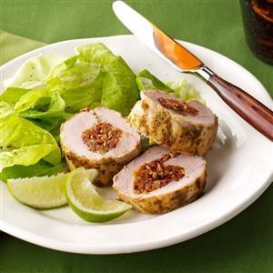 Pork Tenderloin with Cilantro-Lime Pesto Recipe